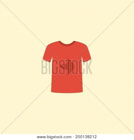 Flat Icon T-Shirt Element. Vector Illustration Of Flat Icon Casual Isolated On Clean Background