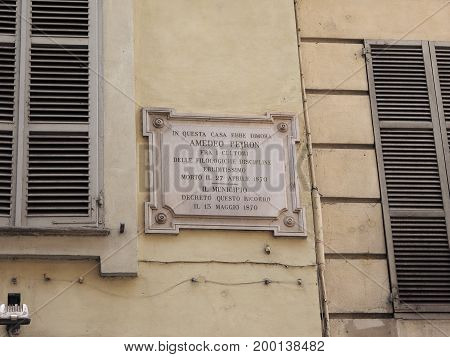 Home Of Amedeo Peyron In Turin