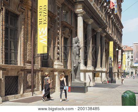 Museo Egizio (egyptian Museum) In Turin
