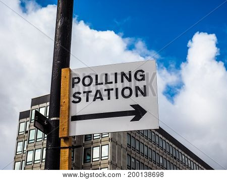 Polling Station In London (hdr)