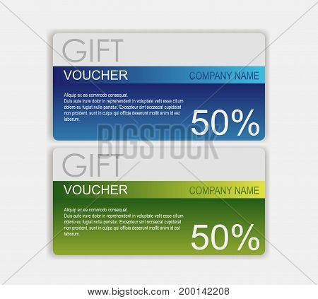 Gift voucher template. cute gift voucher certificate coupon design. Design usable for gift coupon, voucher, invitation