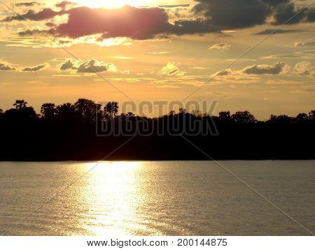 Abendstimmung auf dem Zambesi River in Sambia - Afrika