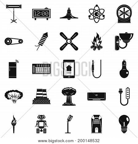 Nuclear power icons set. Simple set of 25 nuclear power vector icons for web isolated on white background