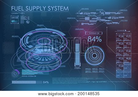 HUD background outer space. infographic elements. futuristic user interface. Vector science Polygonal background.