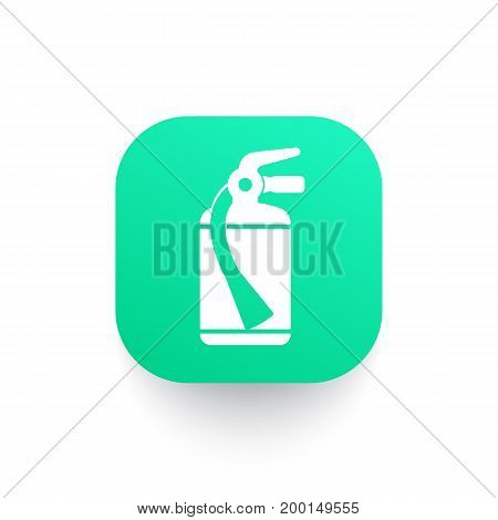 fire extinguisher icon, vector pictogram, eps 10 file, easy to edit