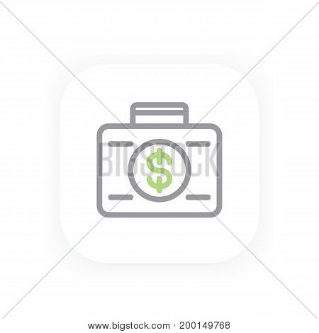 investing line icon, eps 10 file, easy to edit