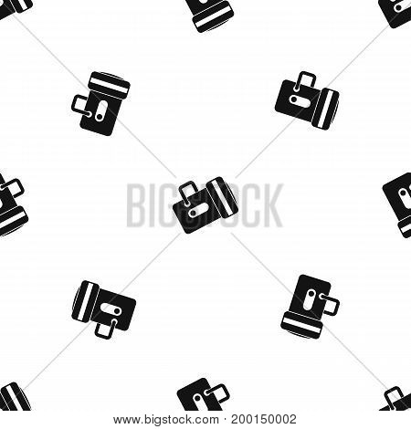 Flashlight pattern repeat seamless in black color for any design. Vector geometric illustration