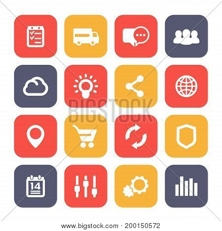 web icons set, e-commerce, internet, business and analytics, eps 10 file, easy to edit