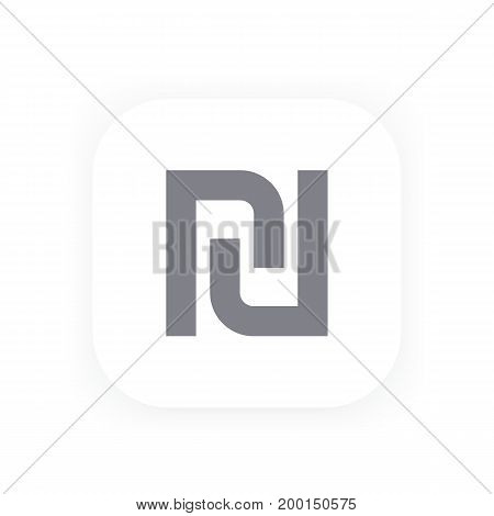 shekel icon, vector sign, eps 10 file, easy to edit