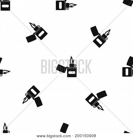 Lighter pattern repeat seamless in black color for any design. Vector geometric illustration