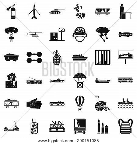 Cargo icons set. Simple style of 36 cargo vector icons for web isolated on white background