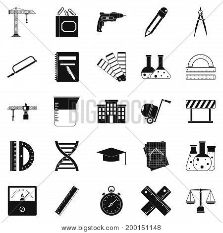 Divider icons set. Simple set of 25 divider vector icons for web isolated on white background