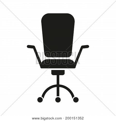 Simple icon of executive chair. Leadership, office worker, boss. Resources concept. Can be used for topics like business, management, furniture