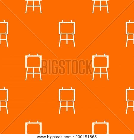 Wooden easel pattern repeat seamless in orange color for any design. Vector geometric illustration