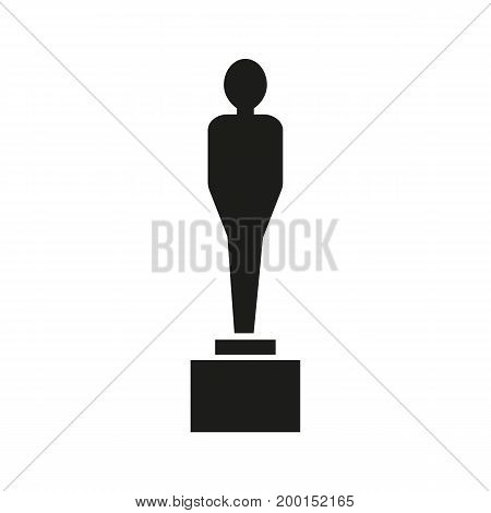 Simple icon of Oscar. Award, prize, statuette. Movie concept. Can be used for topics like entertainment, leisure, festivals