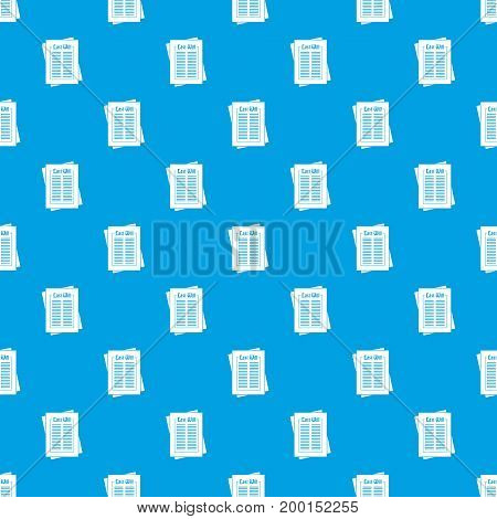 Will pattern repeat seamless in blue color for any design. Vector geometric illustration