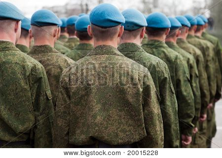 Military Uniform Soldier Row