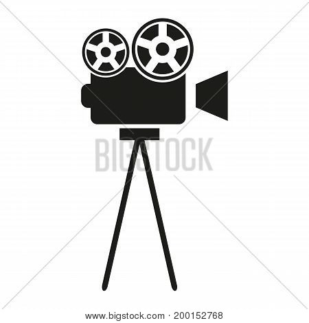Simple icon of retro camera. Movie projector, cinema, filming. Movie concept. Can be used for topics like entertainment, technology, cinematography