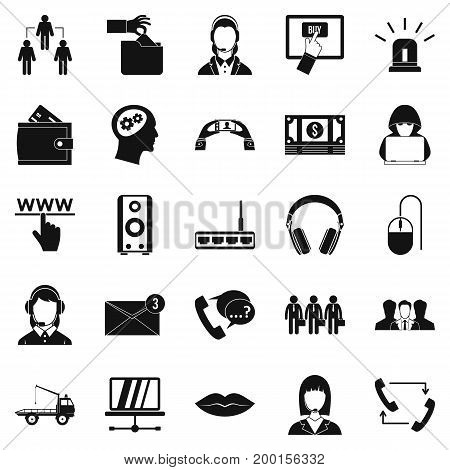 Earflaps icons set. Simple set of 25 earflaps vector icons for web isolated on white background