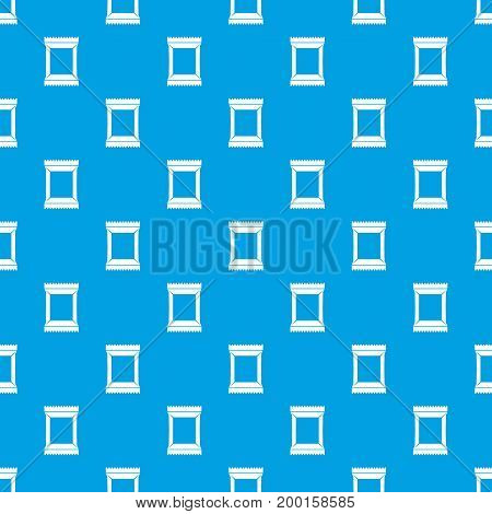 Napkins pack pattern repeat seamless in blue color for any design. Vector geometric illustration