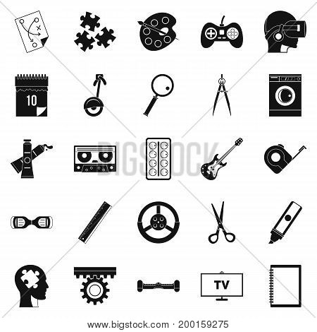 Talent icons set. Simple set of 25 talent vector icons for web isolated on white background