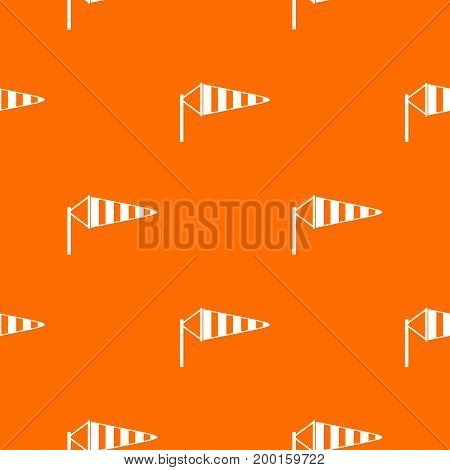 Windsock pattern repeat seamless in orange color for any design. Vector geometric illustration