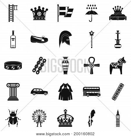 Coronate icons set. Simple set of 25 coronate vector icons for web isolated on white background