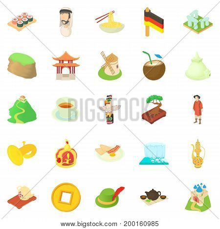 Education icons set. Cartoon set of 25 education vector icons for web isolated on white background