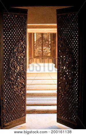Doors open to enter historic Paigah tombs