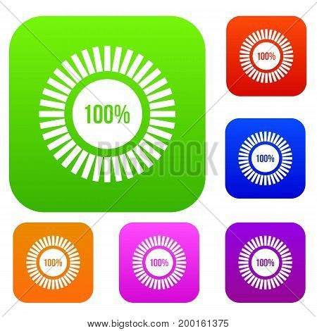 Sign 100 download set icon in different colors isolated vector illustration. Premium collection