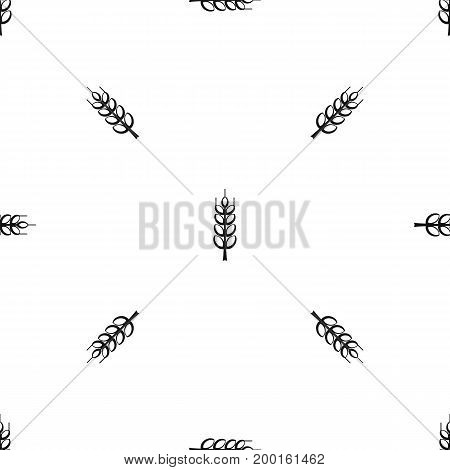 Ripe spike pattern repeat seamless in black color for any design. Vector geometric illustration