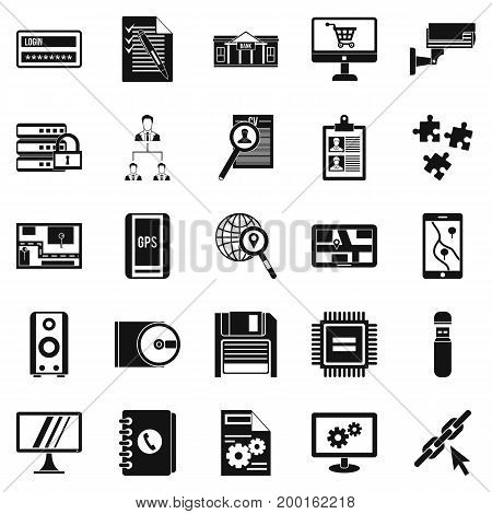 Deadline icons set. Simple set of 25 deadline vector icons for web isolated on white background