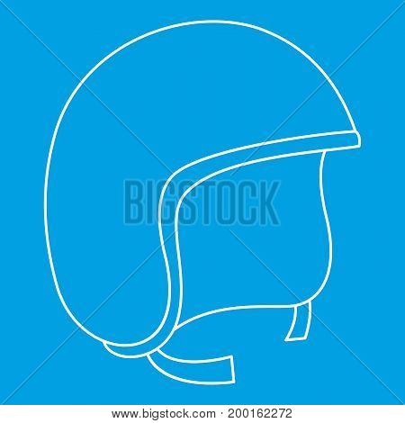 Segway helmet icon blue outline style isolated vector illustration. Thin line sign