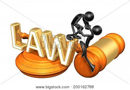 Law Advice Concept The Original 3D Characters Illustration