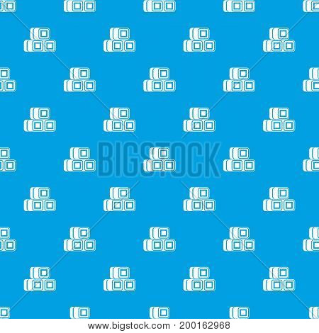 Hay bundles pattern repeat seamless in blue color for any design. Vector geometric illustration