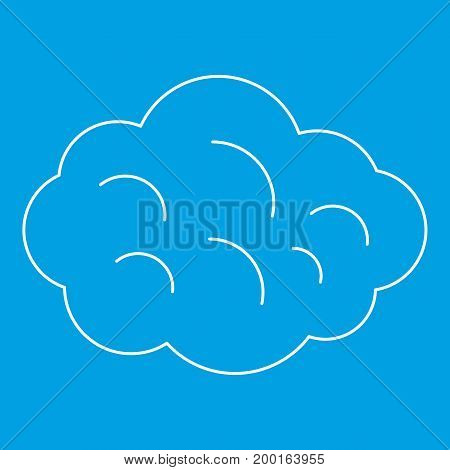 Summer cloud icon blue outline style isolated vector illustration. Thin line sign