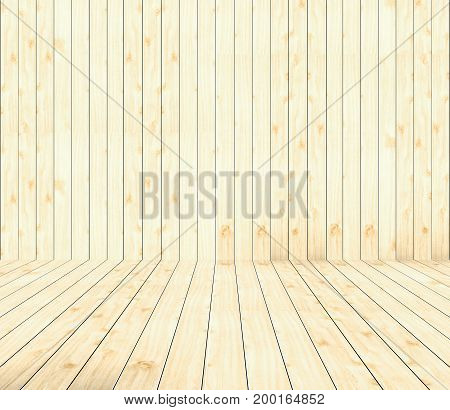 Soft brown wooden table use for products or texts showing display