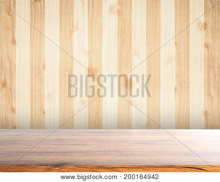 Abstract wooden texture background use for text or products showing display