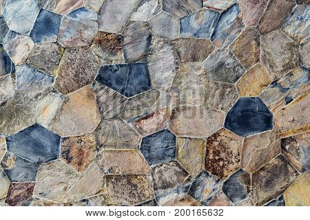 surface of stone wall texture for background