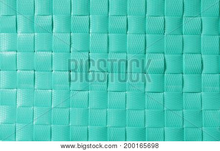 close up of green plastic basketry textures and background
