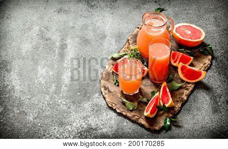 Freshly Squeezed Grapefruit Juice.