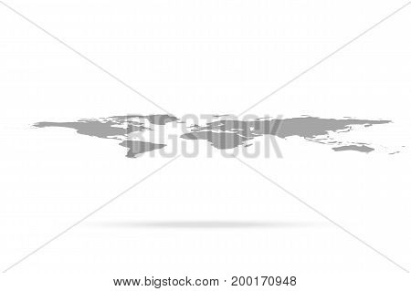 World map, vector illustration On white background