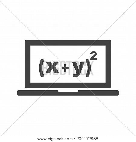 Math, online, education icon vector image. Can also be used for Math Symbols. Suitable for use on web apps, mobile apps and print media.