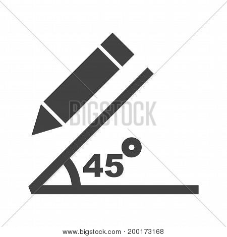 Graph, angle, compass icon vector image. Can also be used for Math Symbols. Suitable for mobile apps, web apps and print media.