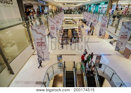 Kota Kinabalu,Sabah-July 22,2017:View of Imago Shopping Mall in Kota Kinabalu,Sabah,Malaysia.The biggest shopping mall at Kota Kinabalu town & a lot of branded shop inside the mall with good facility