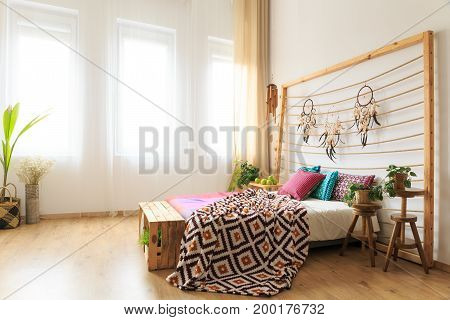 Bedroom With Bed With Bedhead