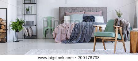 Vintage Furniture In Cozy Bedroom