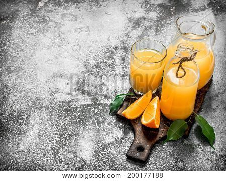 Fresh Juice From Ripe Oranges .
