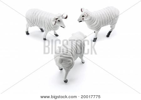 Merino Ram Figurines