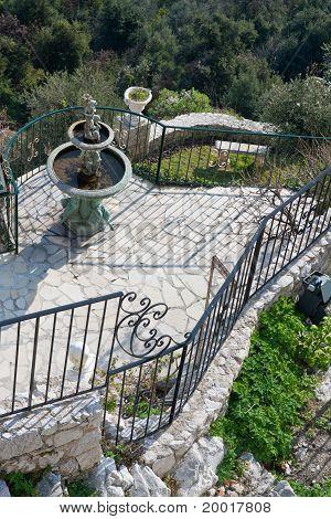 Ancient Hillside Garden In Provence